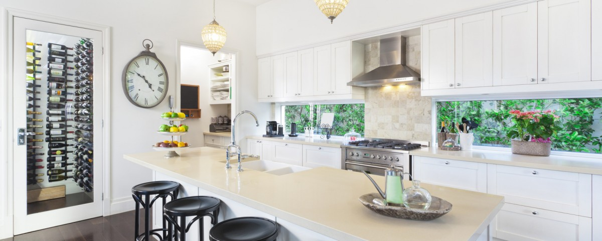 Captivating Stylish Open Plan Kitchen With Stainless Steel Appliances